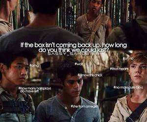 the maze runner and funny image