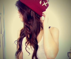 beanie, girl, and fashion image