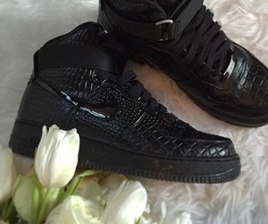 AF1, black, and flowers image
