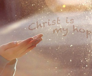 Christ, hope, and quote image