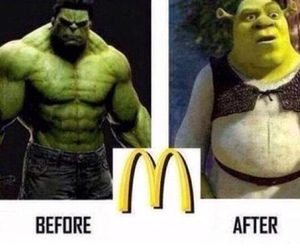 funny, shrek, and Hulk image
