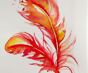 feather, fire, and pretty image