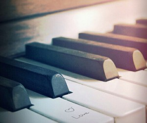 piano, love, and music image