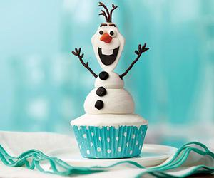 frozen, olaf, and cupcake image