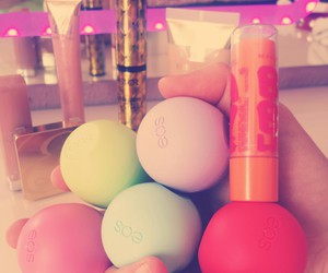 eos, girly, and lip balm image