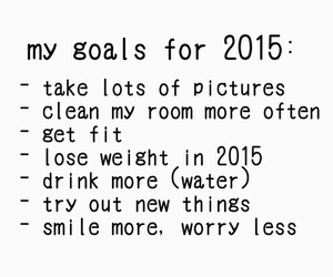 2015, goals, and smile image