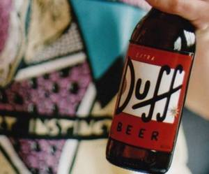 Duff, beer, and the simpsons image