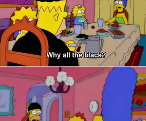 black, homer, and funny image