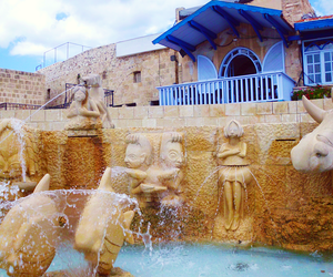 fountain, travel, and israel image