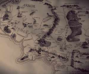 hobbit, map, and lord of the rings image