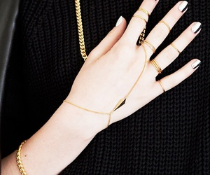 gold, rings, and fashion image