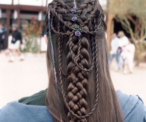 beauty, braid, and hair image