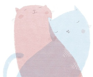 cat, illustration, and pink image