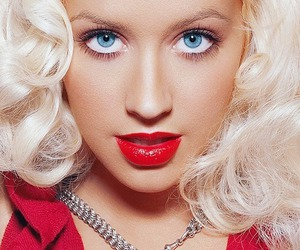blonde, blue eyes, and christina aguilera image