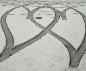 car, driving, and hearts image