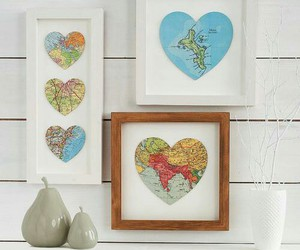 map, diy, and heart image