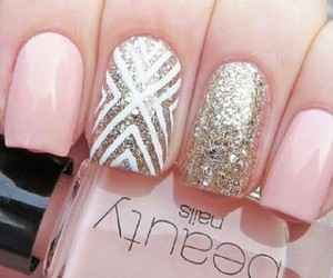 chic, pink, and hand image