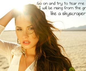 demi lovato and skyscraper image