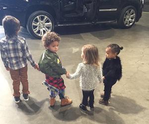 kids, north west, and kim kardashian image