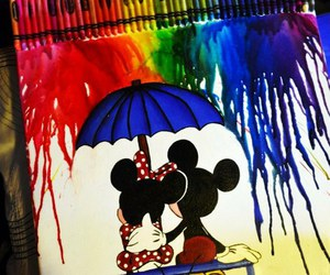 disney, minnie, and art image