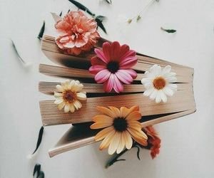 book, flower, and libros image