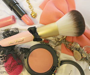 bow, brush, and too faced image
