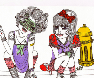 girl, valfre, and cartoon image