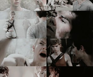 newt, the maze runner, and dylan o'brien image