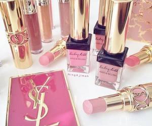 makeup, YSL, and pink image