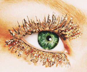 beauty, gold, and eye image