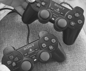 black and white, girls, and playstation image