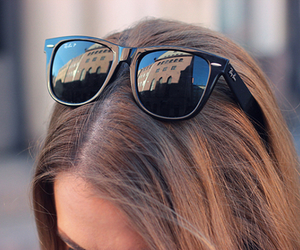 fashion, hair, and sunglasses image