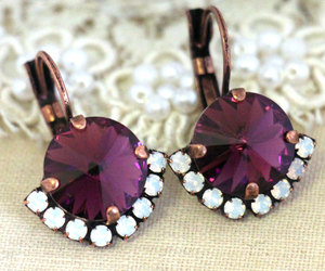 earrings, Hot, and purple image