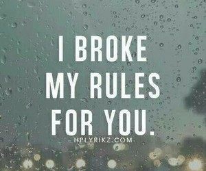 love, rules, and quote image