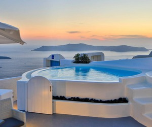santorini and summer image