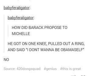 barack obama, funny, and proposal image