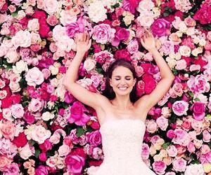 flowers, natalie portman, and rose image