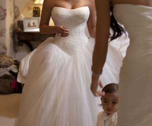 kim kardashian, wedding, and dress image