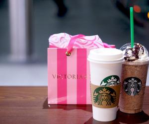 starbucks, Victoria's Secret, and pink image
