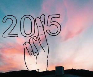 2015 and sky image