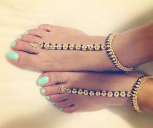 nails, feet, and gold image
