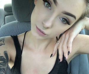 girl, tattoo, and grunge image