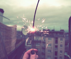 sparklers, 2015, and winter image