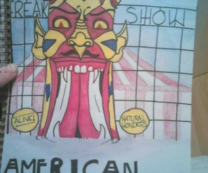 freak show, ahs, and artwork image