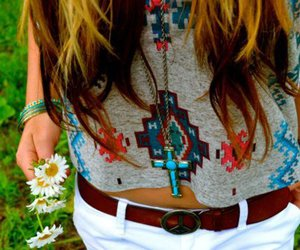 blond, indio, and necklace image