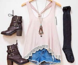boots, girly, and shorts image