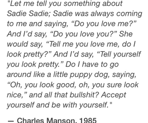 Charles Manson, pretty, and quote image