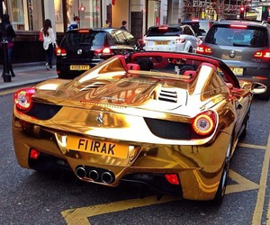 gold, car, and luxury image