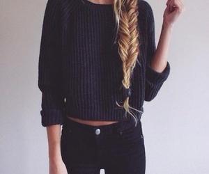 fashion, hair, and black image