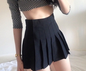 black, outfit, and pale image